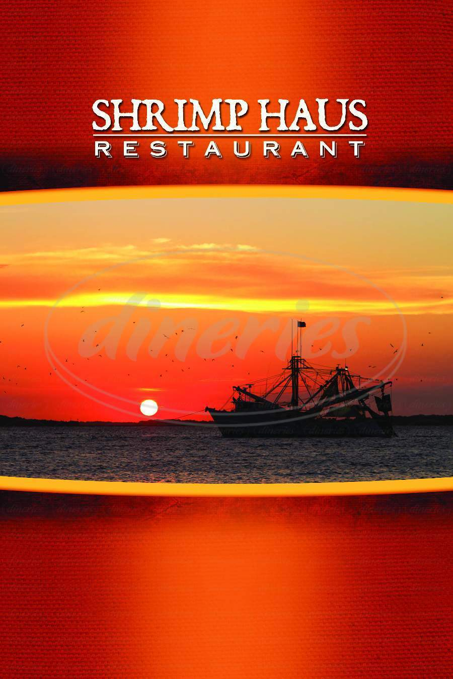 menu for The Shrimp Haus Restaurant