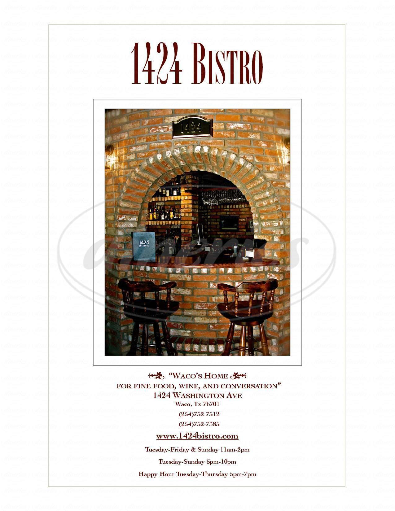 menu for 1424