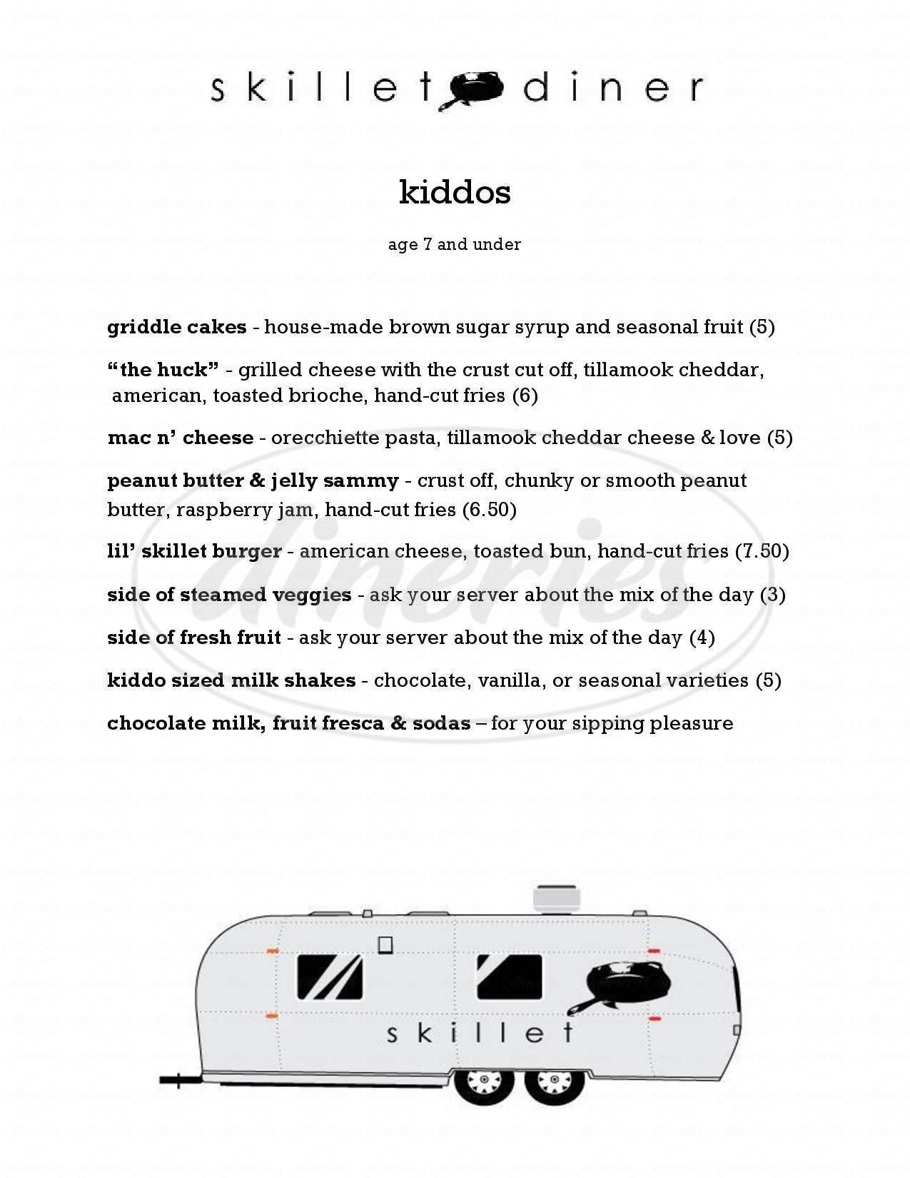 menu for Skillet Diner