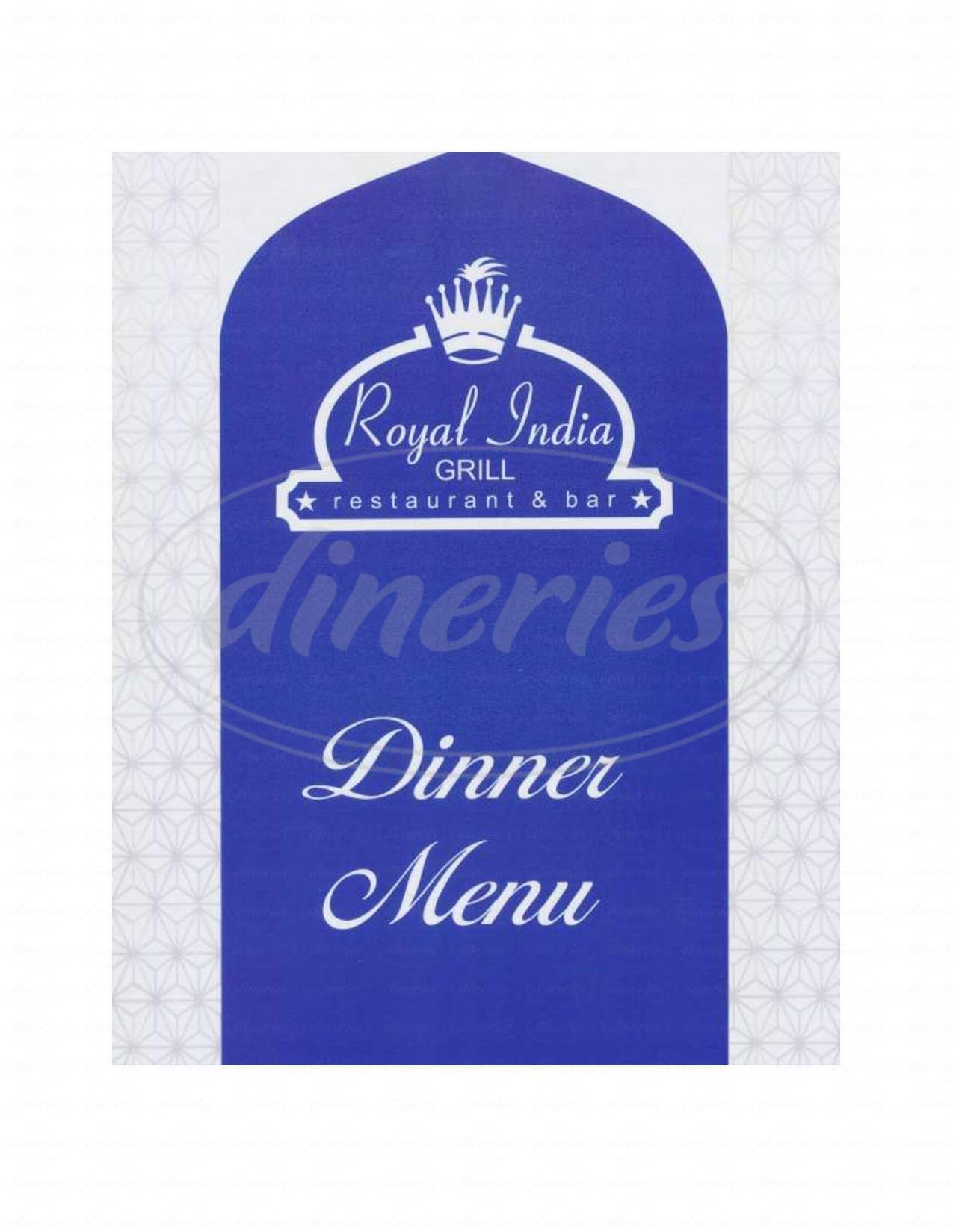 menu for Royal India Grill