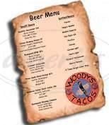 menu for Woody's Tacos