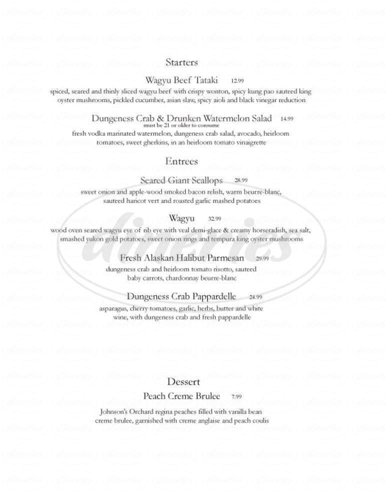 menu for Zesta Cucina