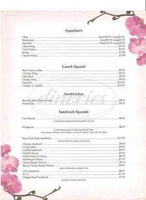 menu for Dimond Bar-B-Que Pit