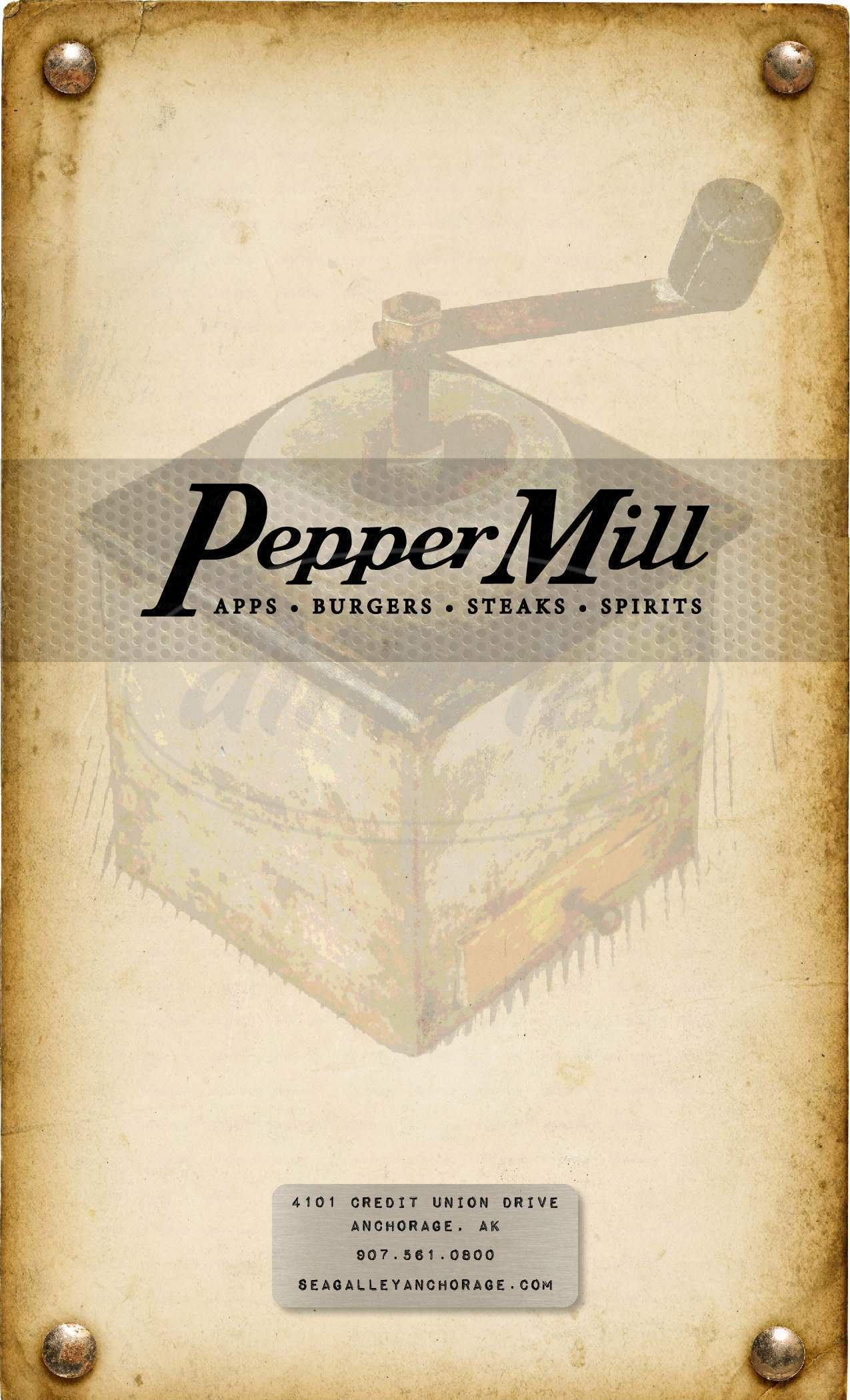 menu for Pepper Mill