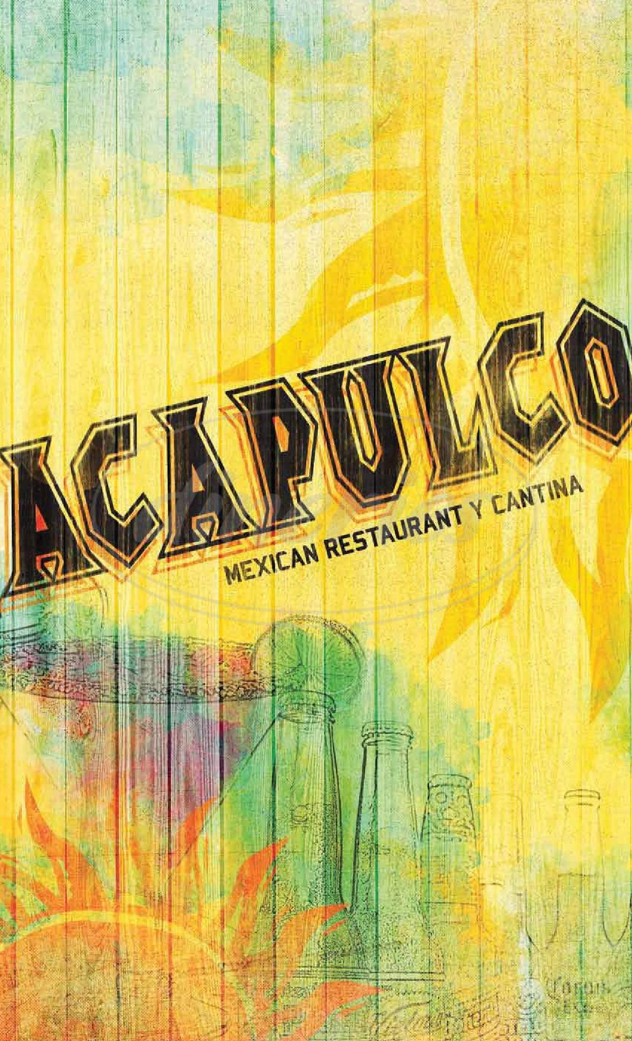 menu for Acapulco Mexican Restaurant
