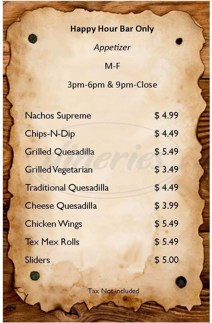 menu for Don Jose's