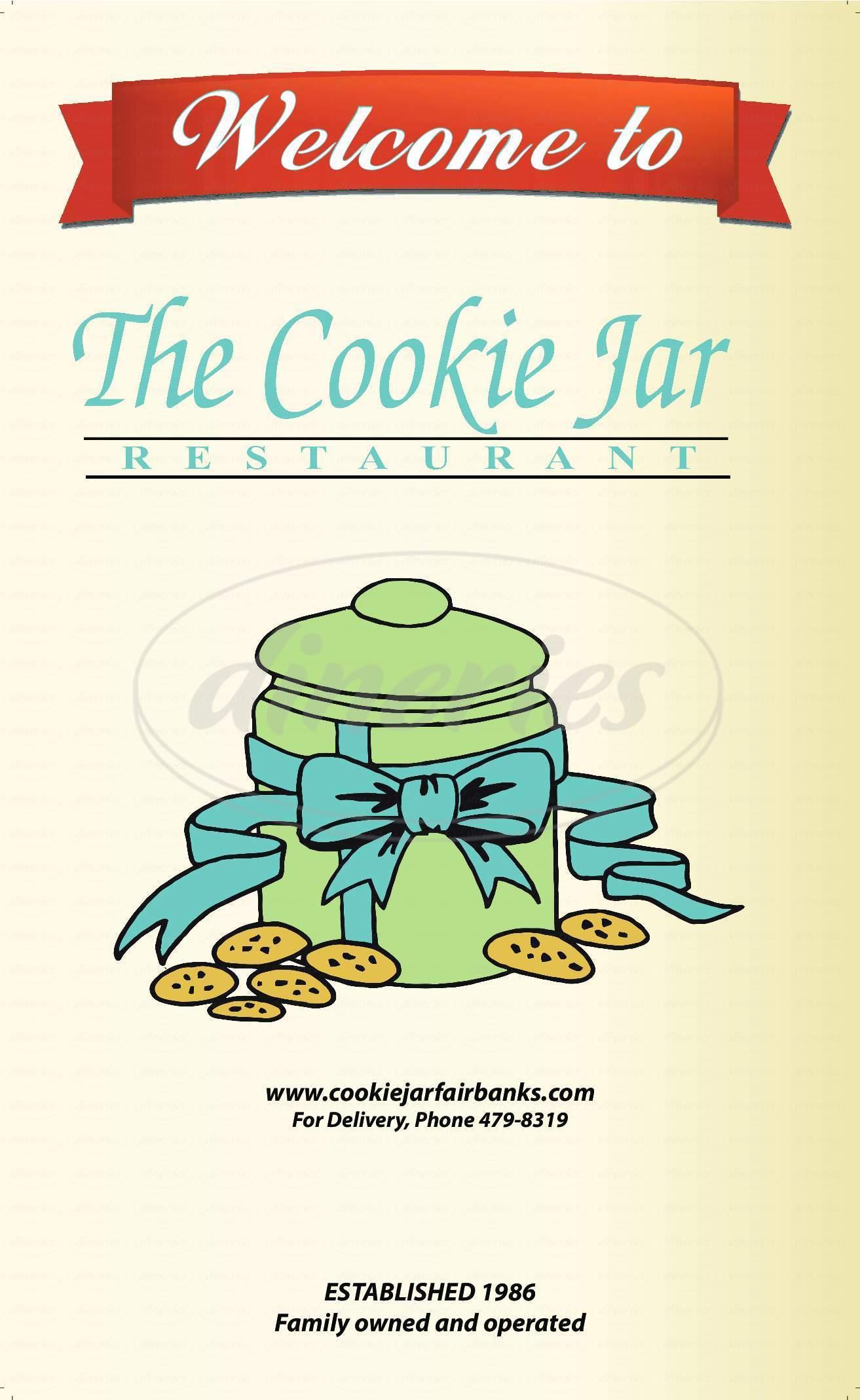 menu for The Cookie Jar