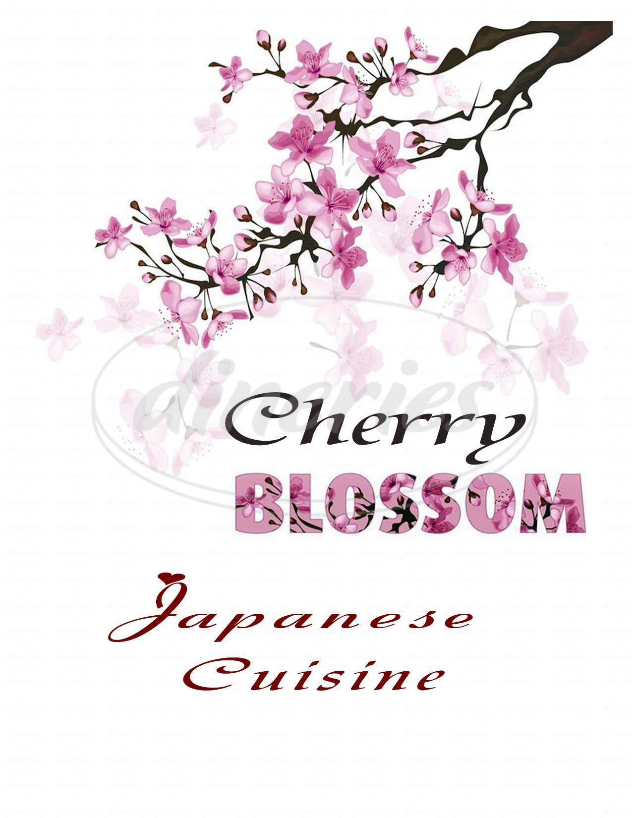 menu for Cherry Blossom Japanese Restaurant