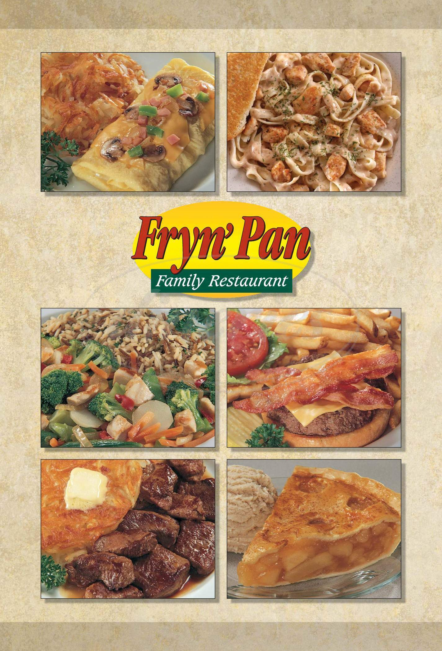 menu for Fryn' Pan