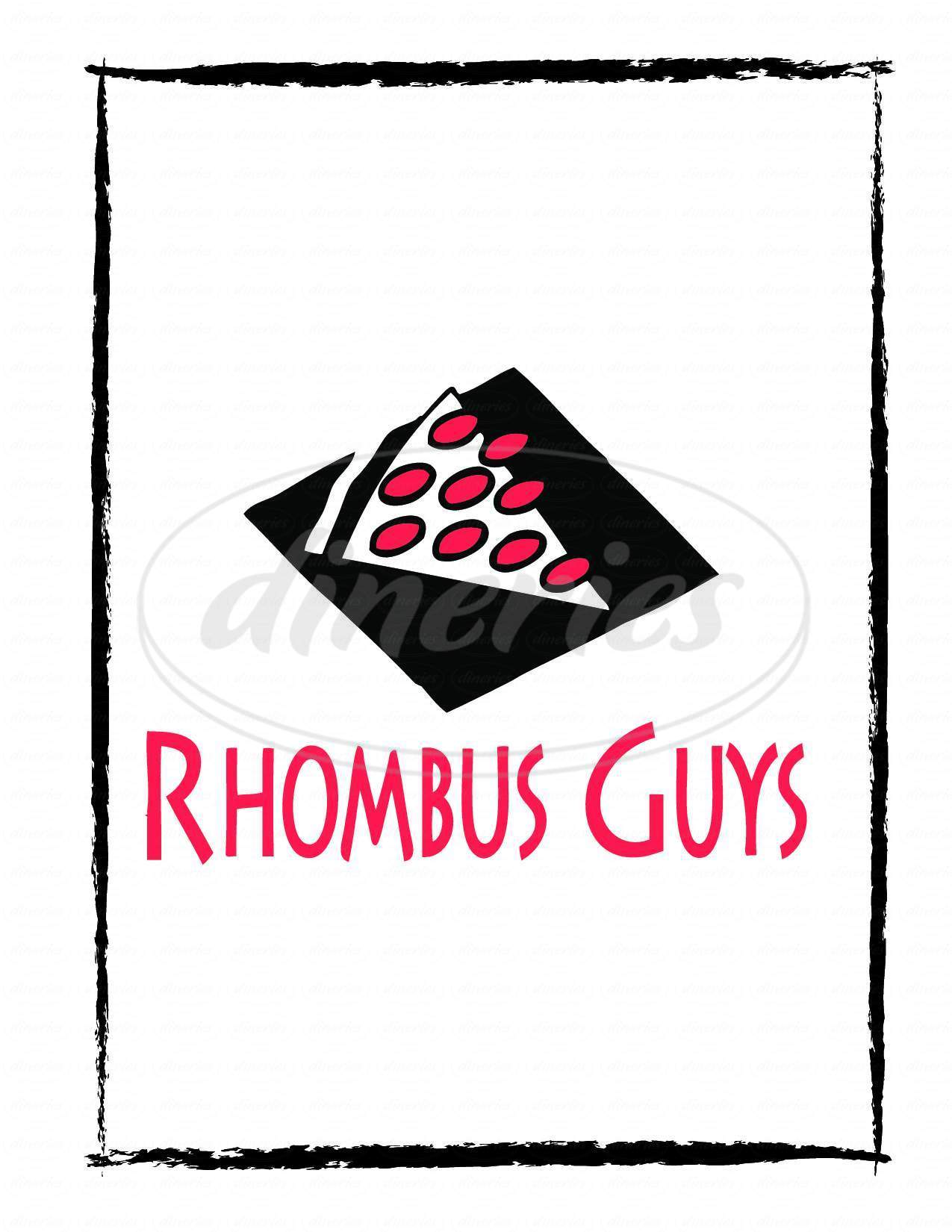 menu for Rhombus Guys