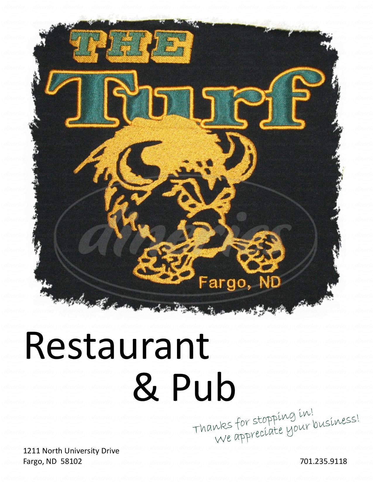 menu for Bison Turf