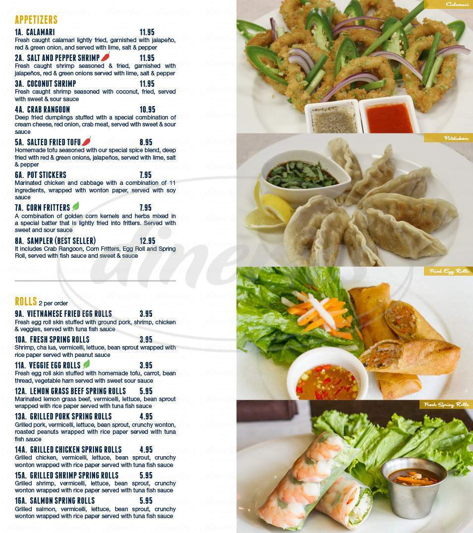 menu for BFF Asian Grill & Sports Bar