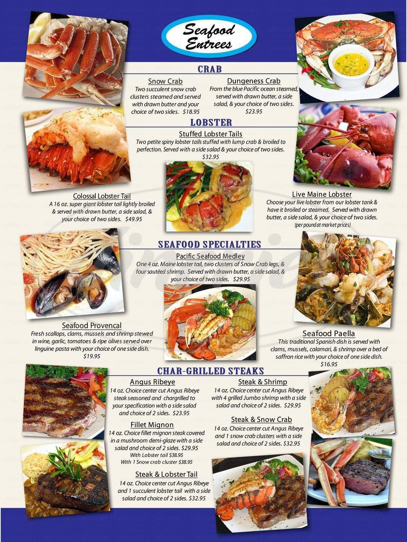 menu for Breakers