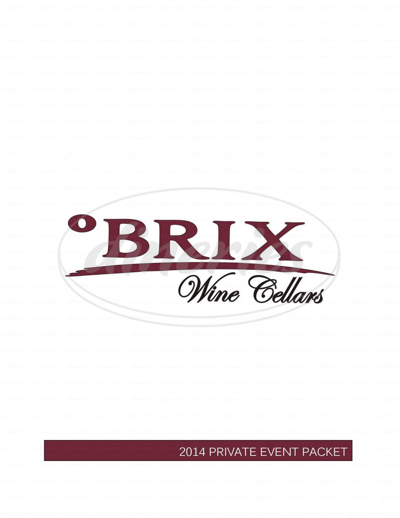 menu for BRIX Wine Cellars