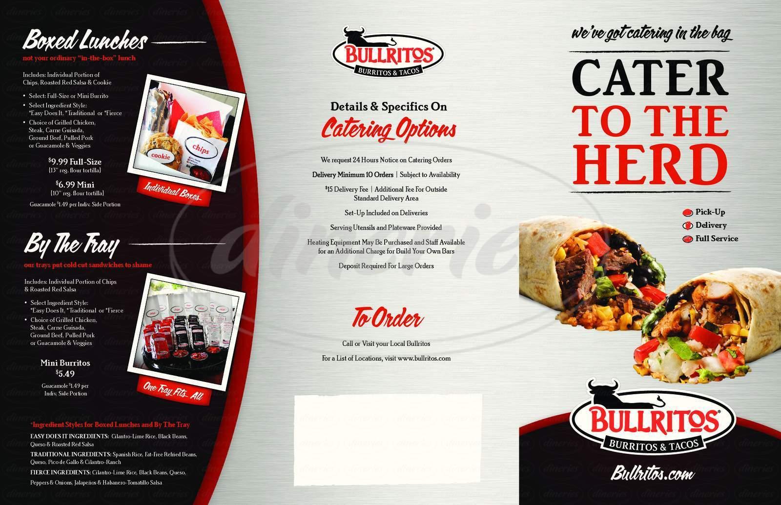 menu for Bullritos