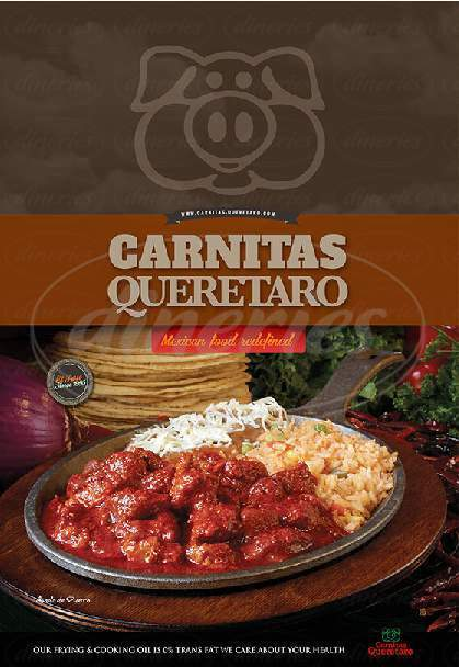menu for Carnitas Queretaro