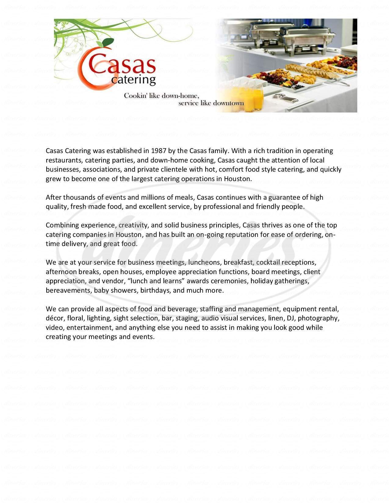 Casas catering menu houston dineries 1betcityfo Gallery