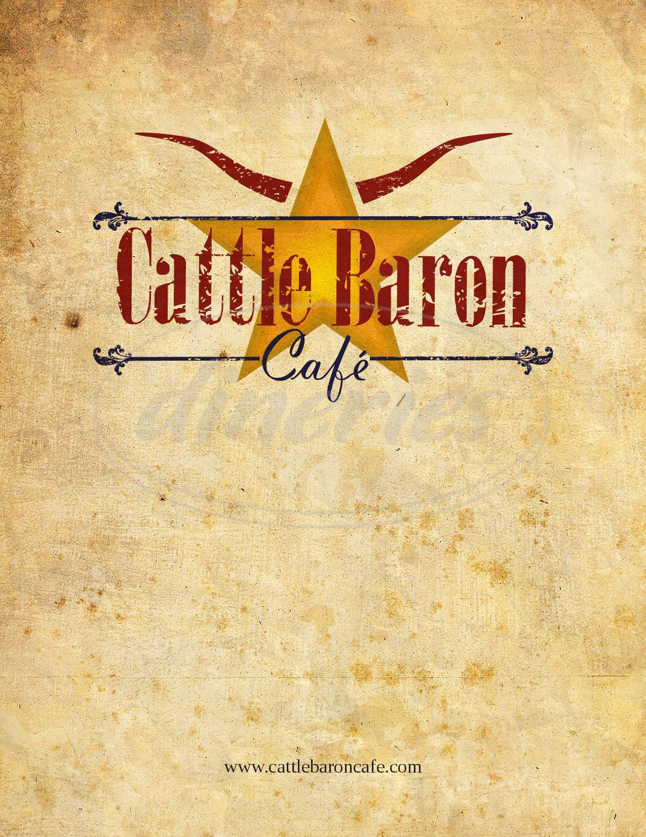 menu for Cattle Baron Cafe