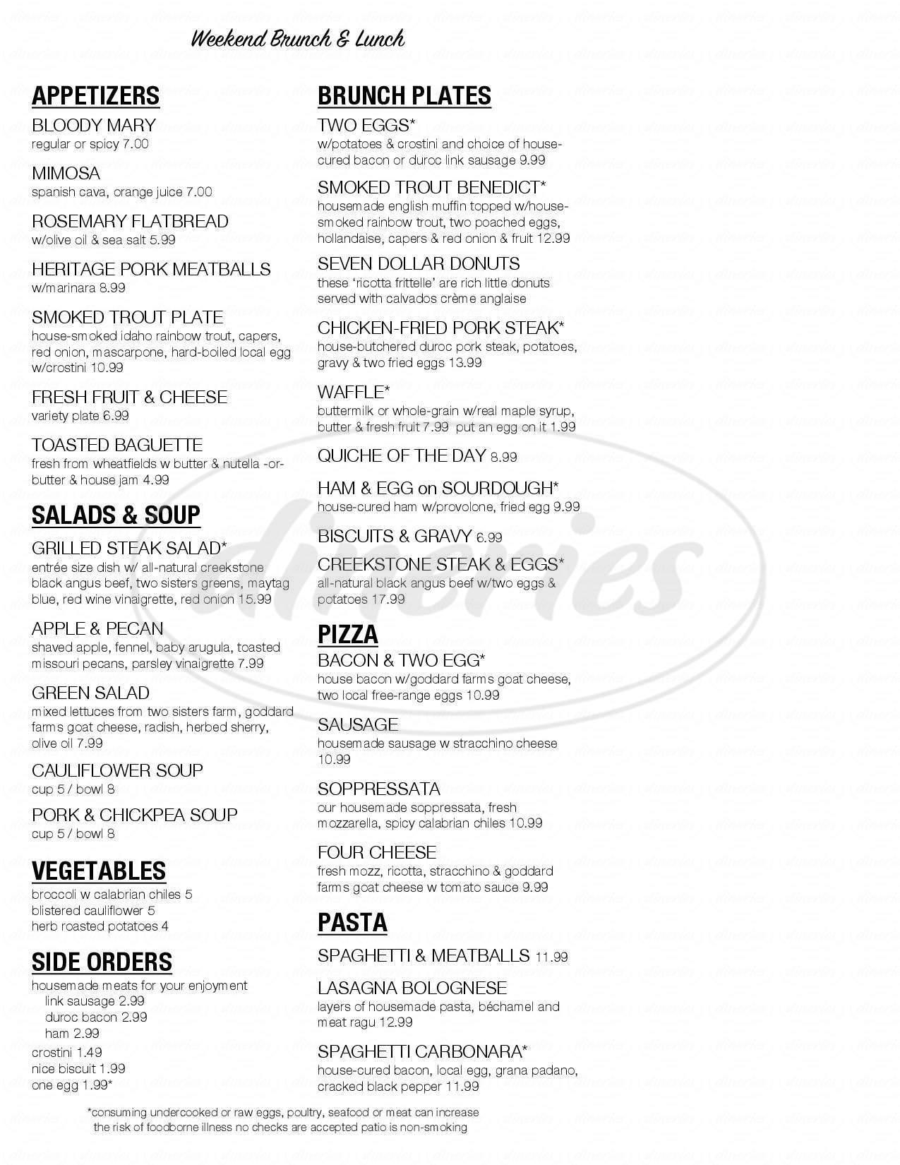 menu for 715