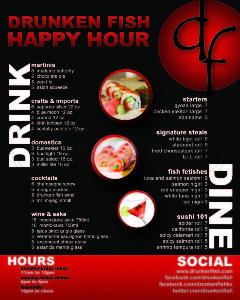 menu for Drunken Fish