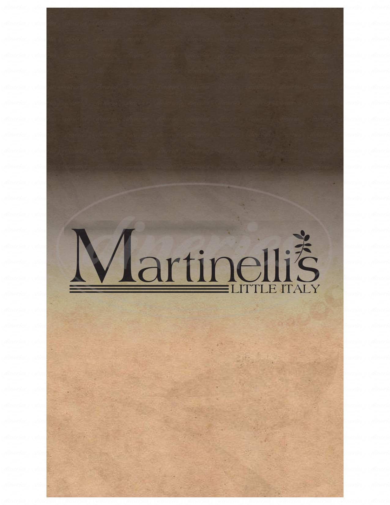 menu for Martinelli's Little Italy