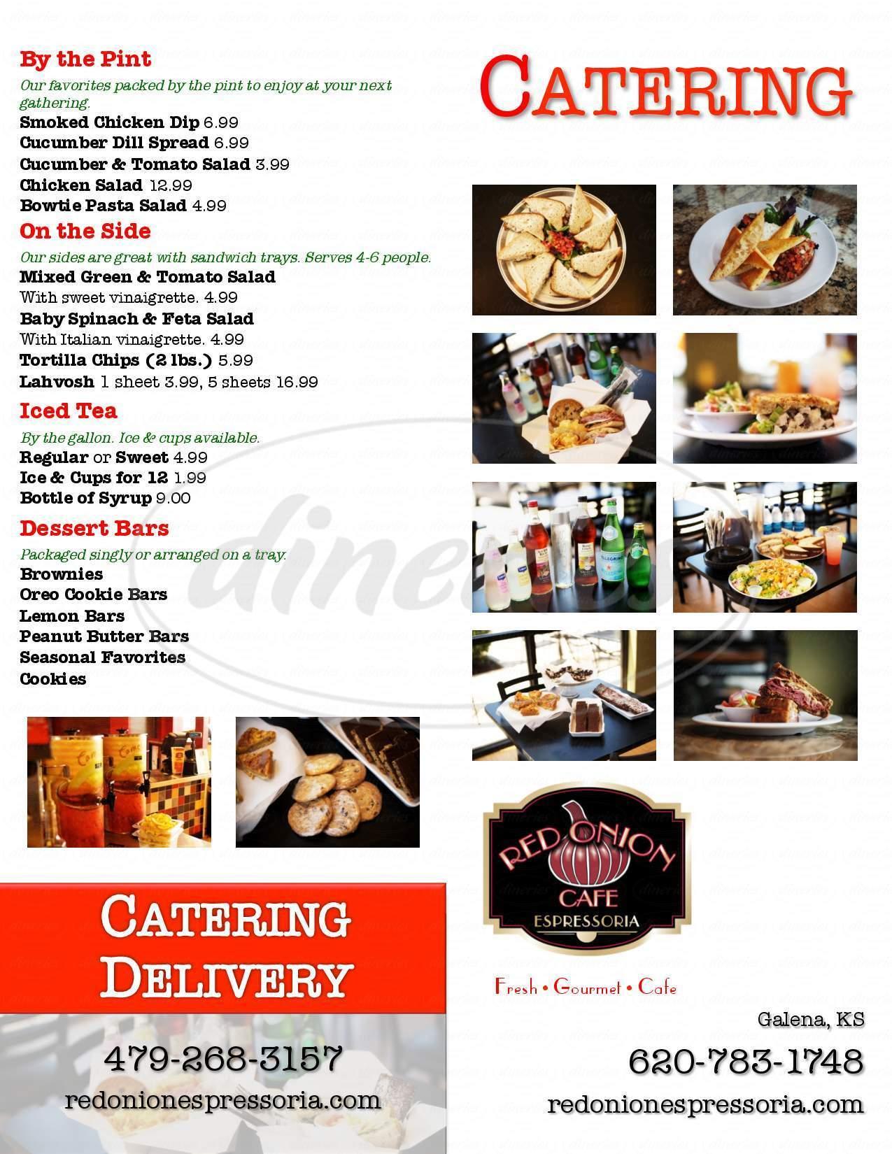 menu for Red Onion Espressoria