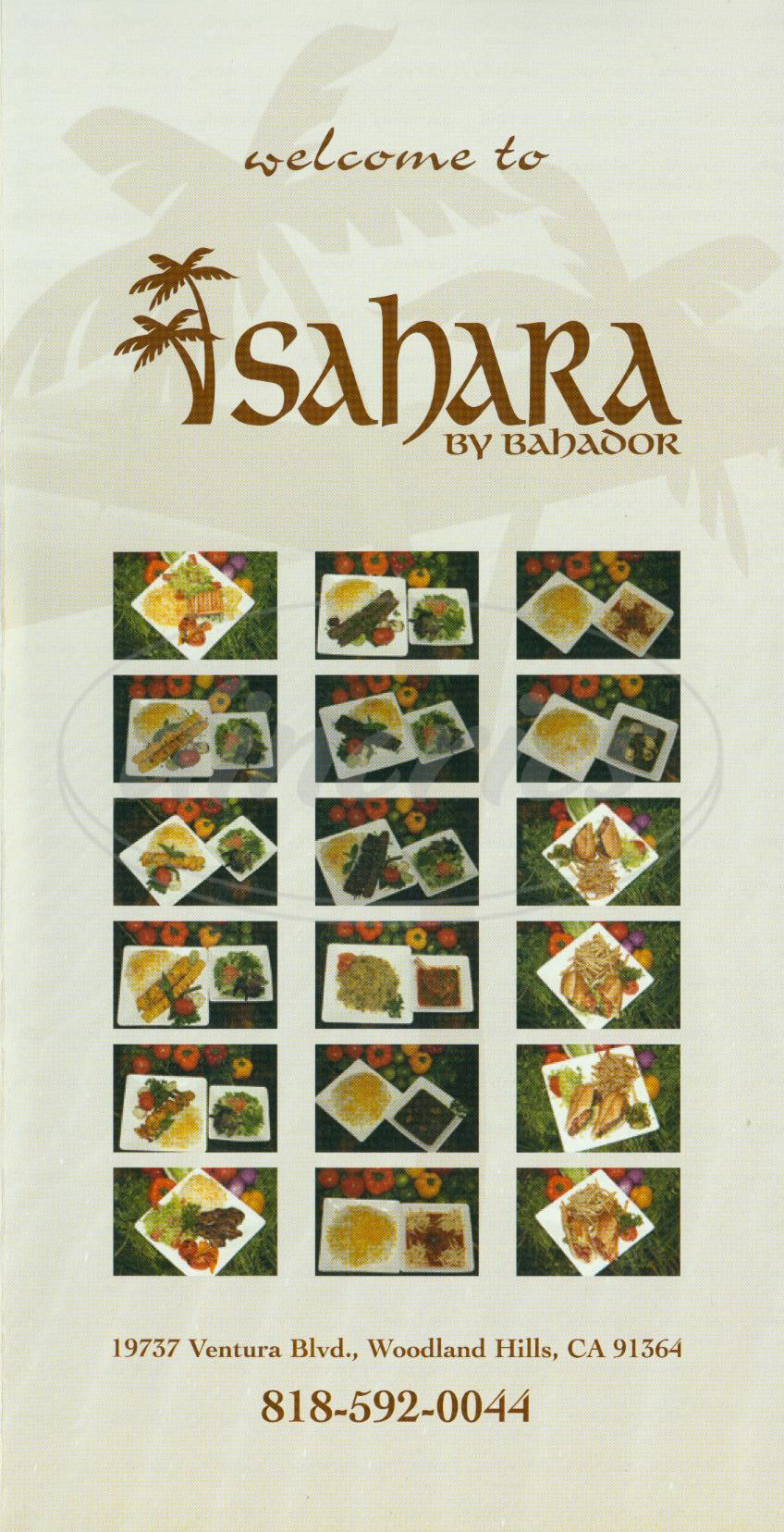 menu for Sahara by Bahador