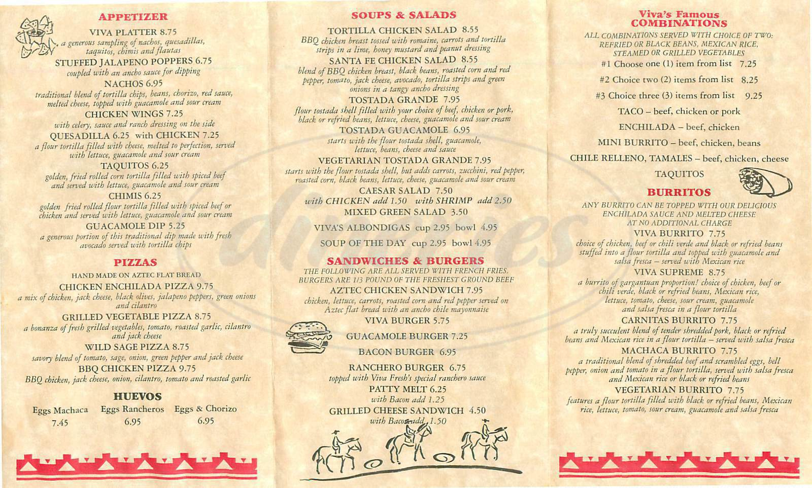 menu for Viva Fresh