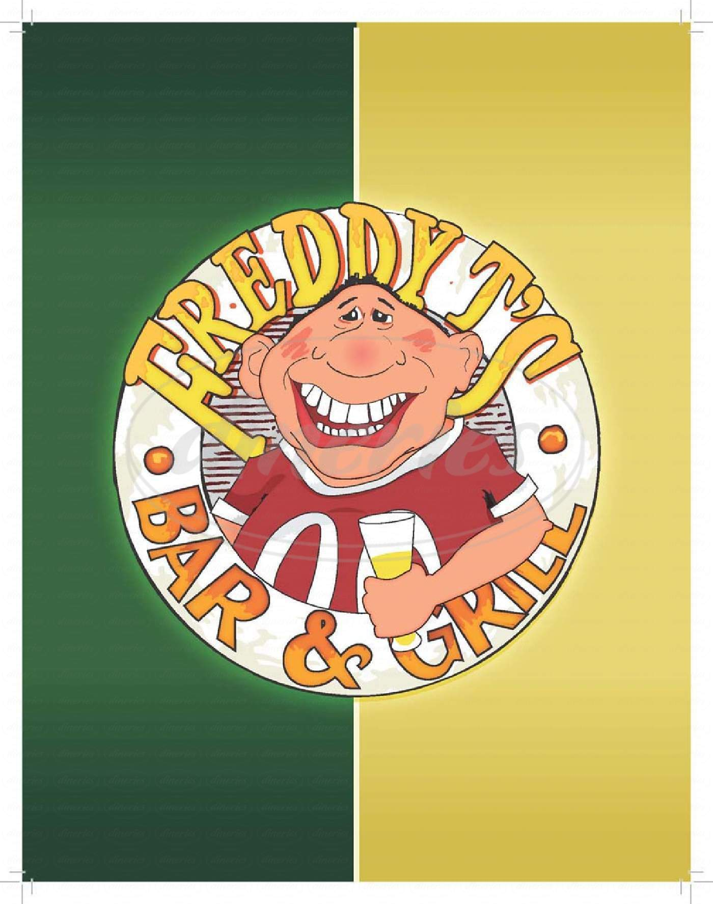 menu for Freddy T's Bar & Grill