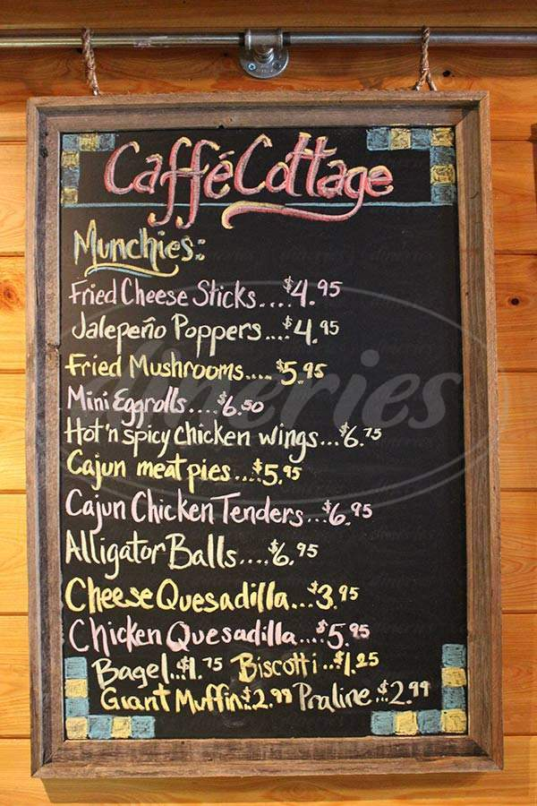menu for Caffe'cottage