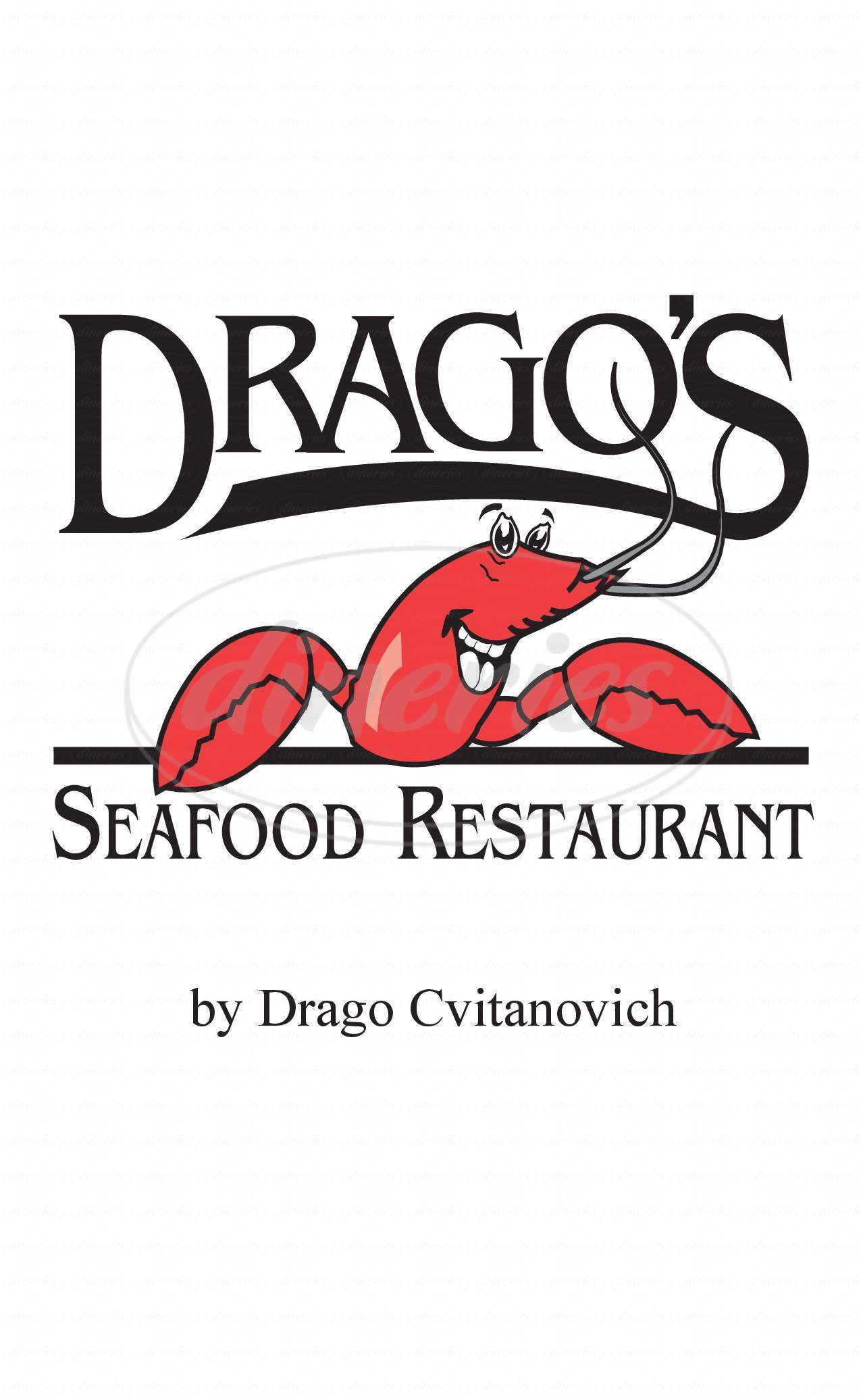 menu for Drago's Seafood Restaurant