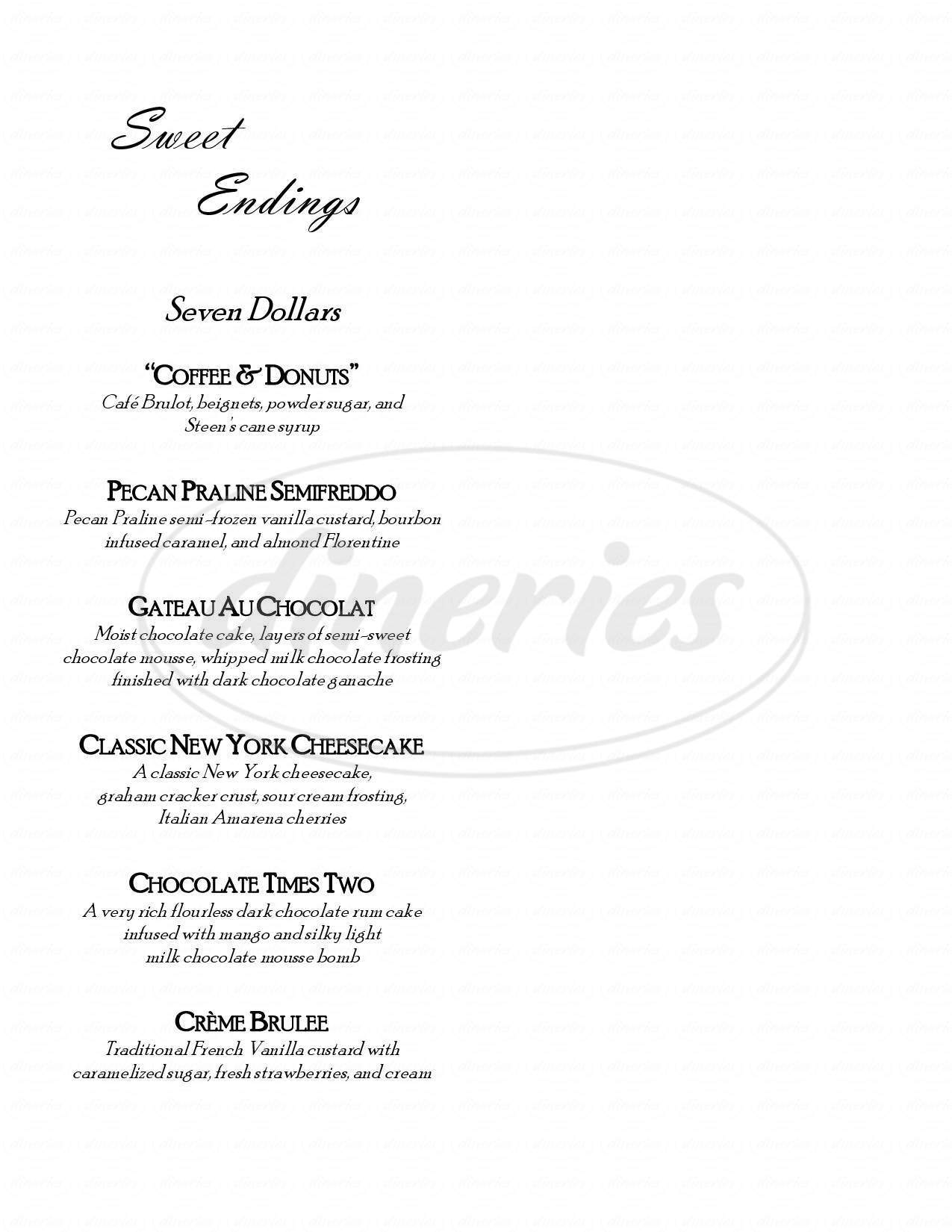menu for Blackberry's Seafood Kitchen
