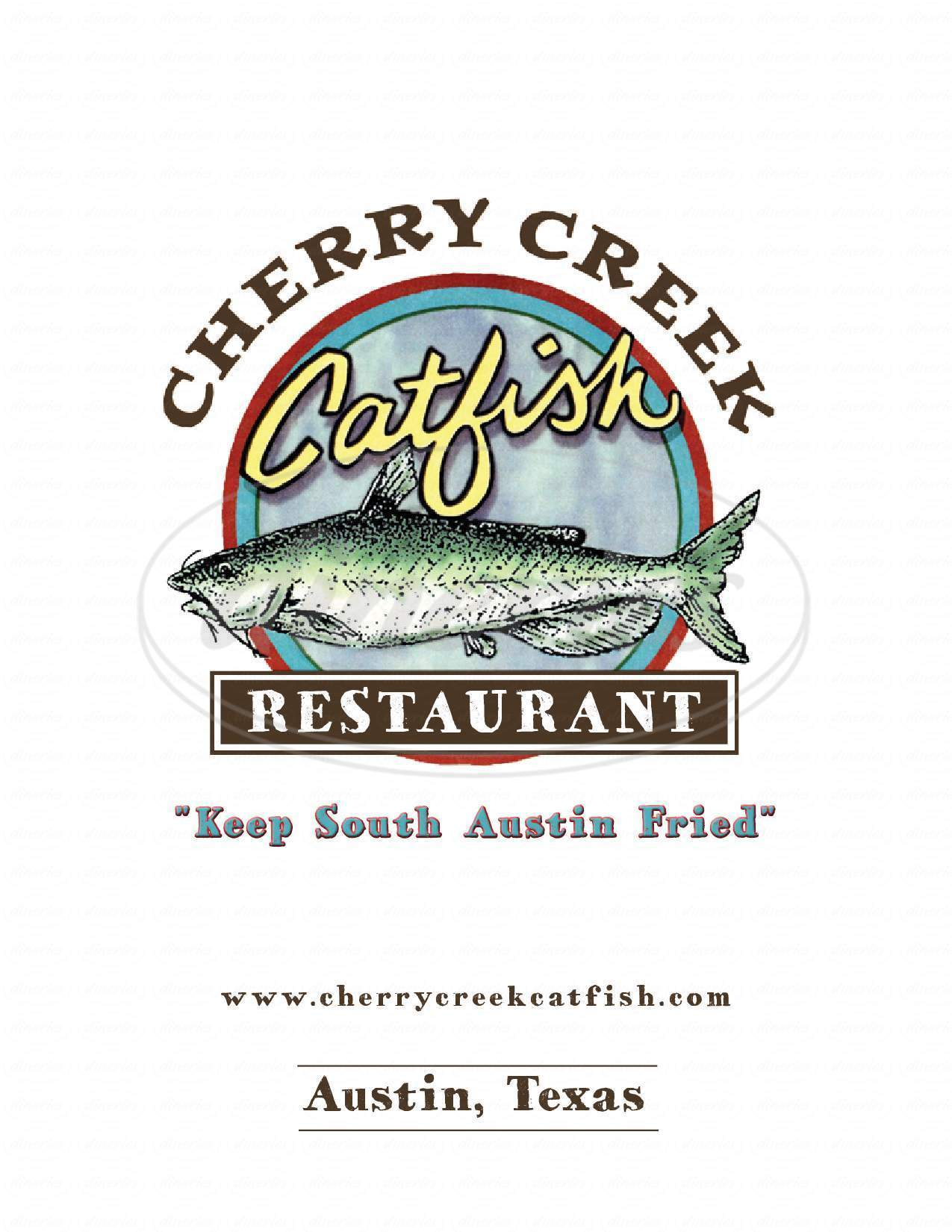 menu for Cherry Creek Catfish Co