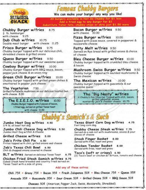 Consider, chubbys burgers fort worth absurd