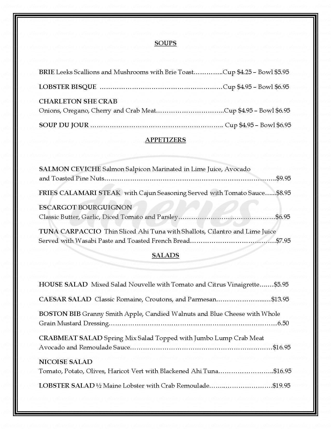 menu for Citrus Bistro