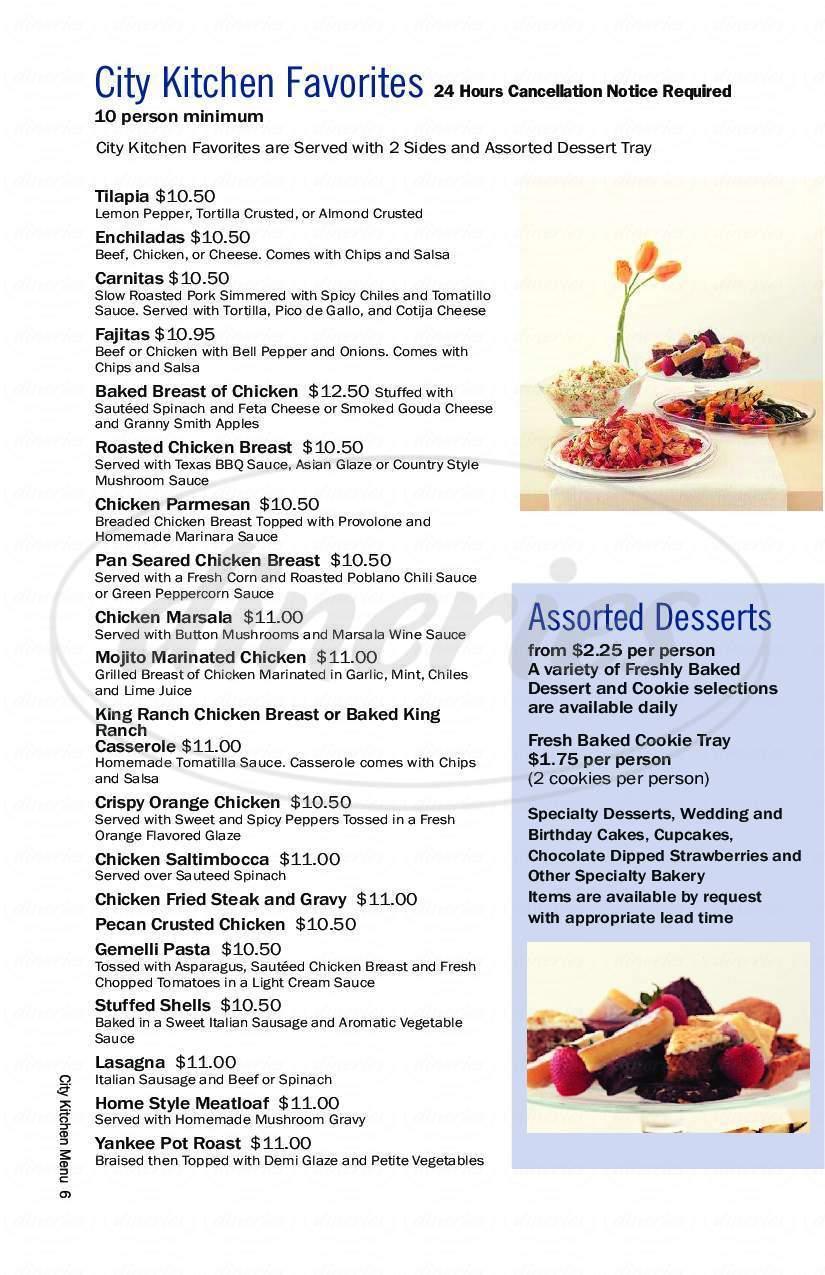 City Kitchen Café Menu - Fort Worth - Dineries
