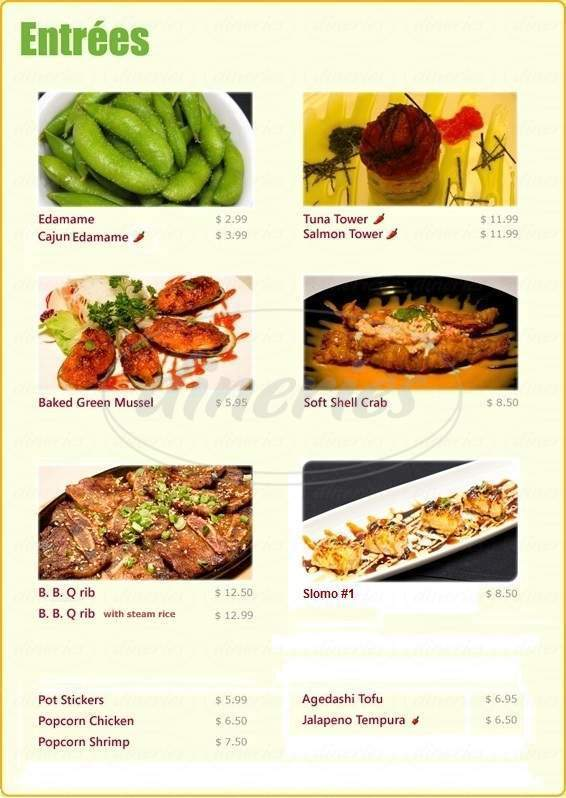 menu for C-Rolls Sushi