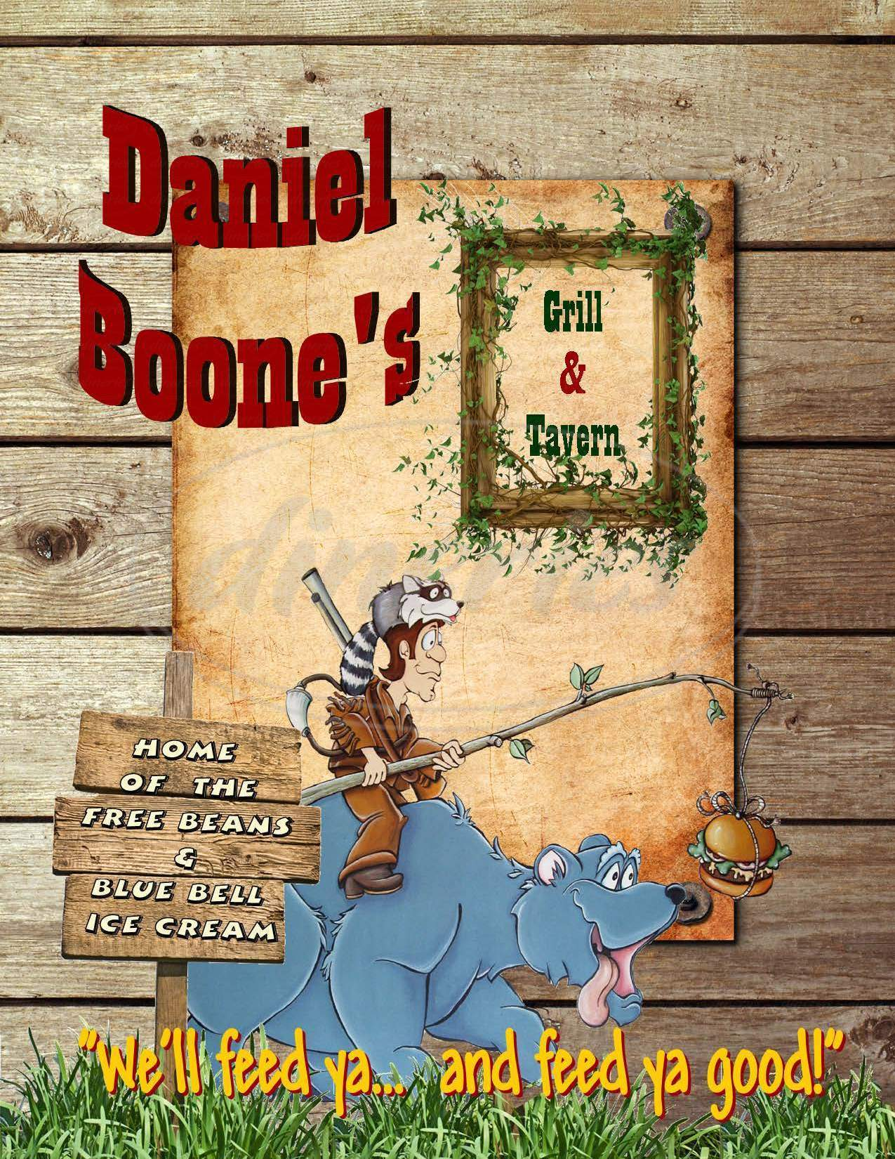 menu for Daniel Boone's Bean & Burger