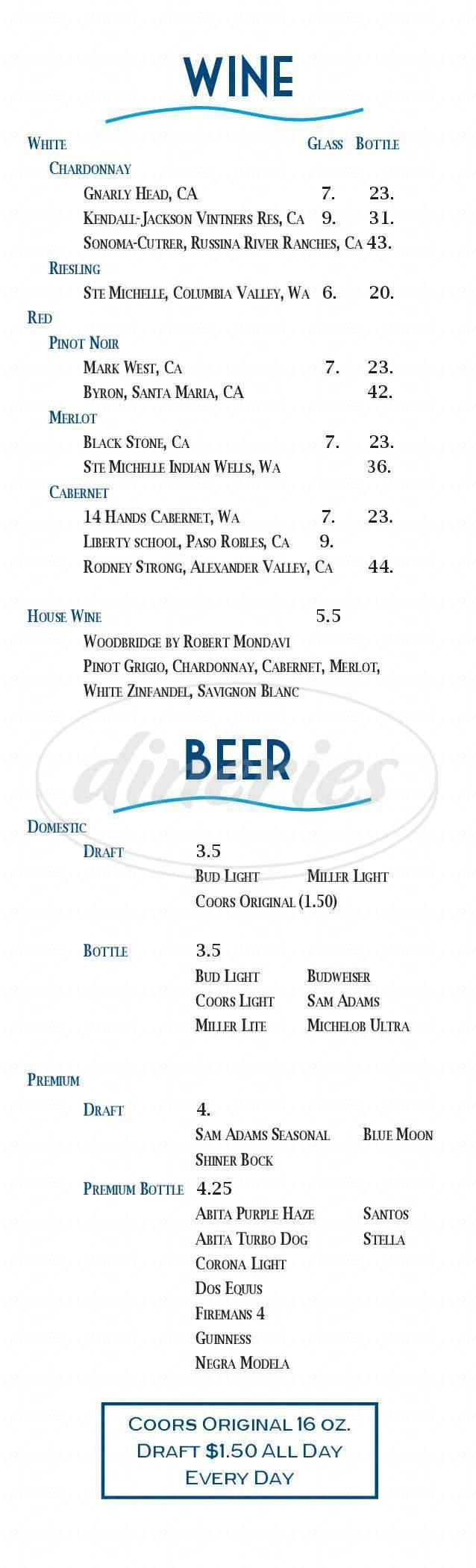 menu for Dani Rae's Gulf Coast Kitchen