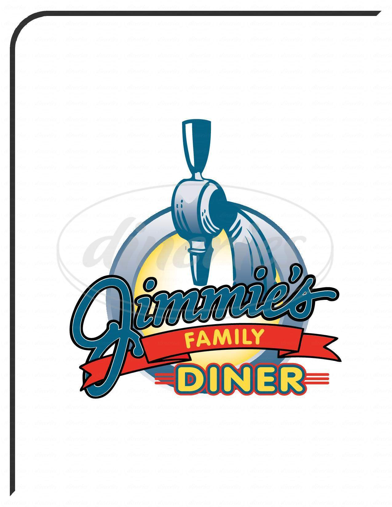 menu for Jimmie's Diner