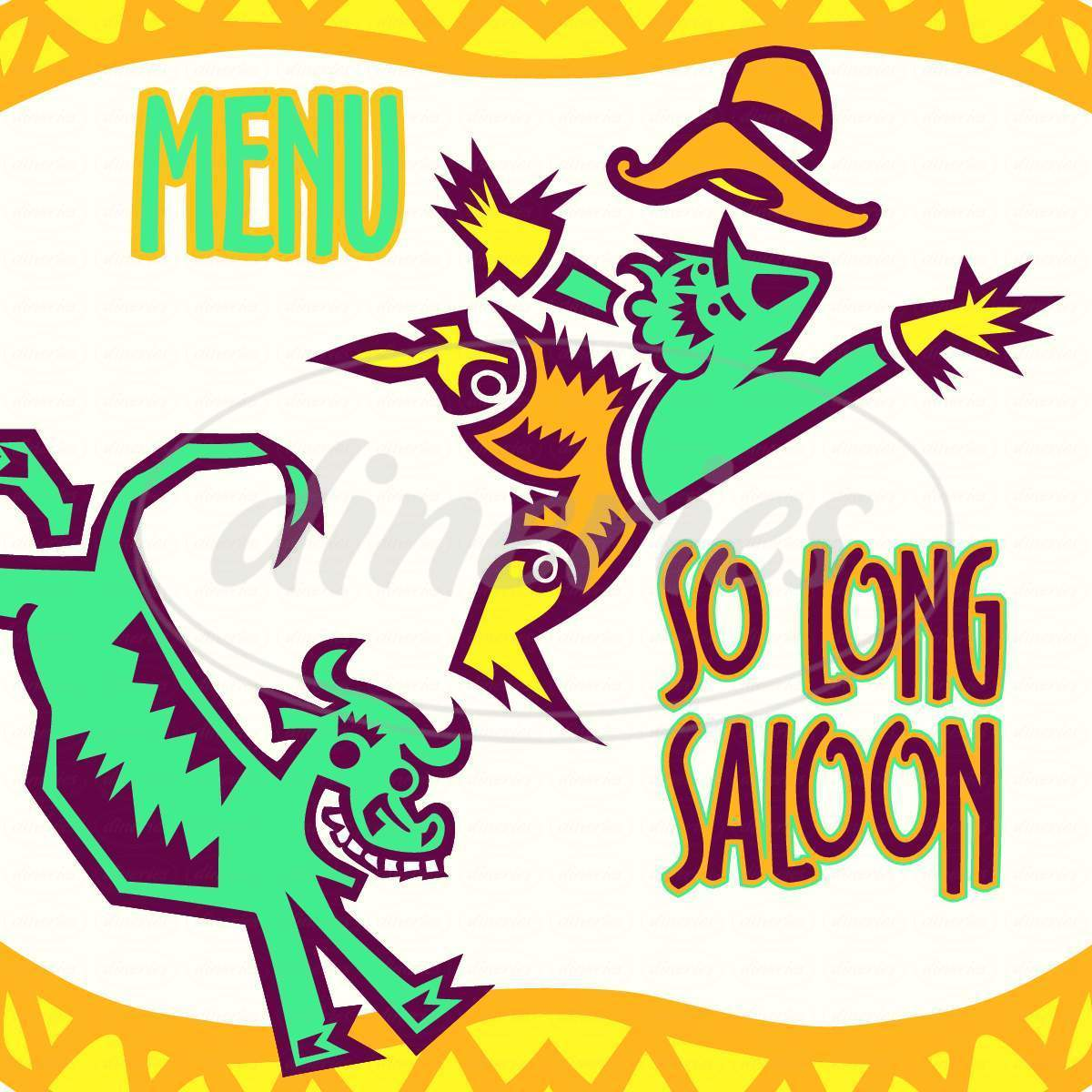 menu for So Long Saloon