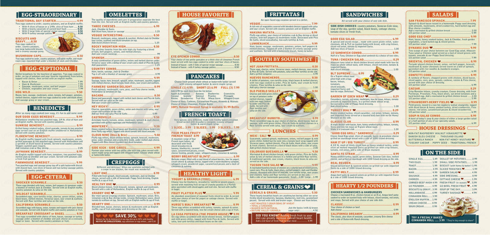 menu for The Good Egg
