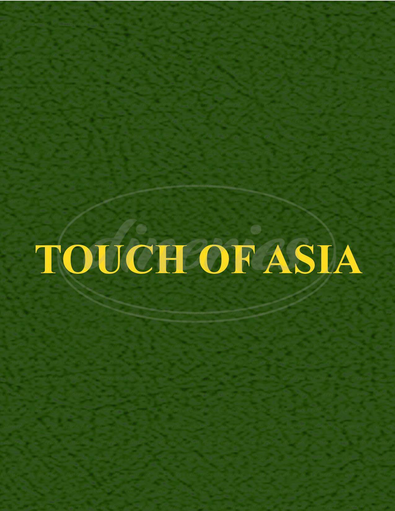 menu for Touch of Asia