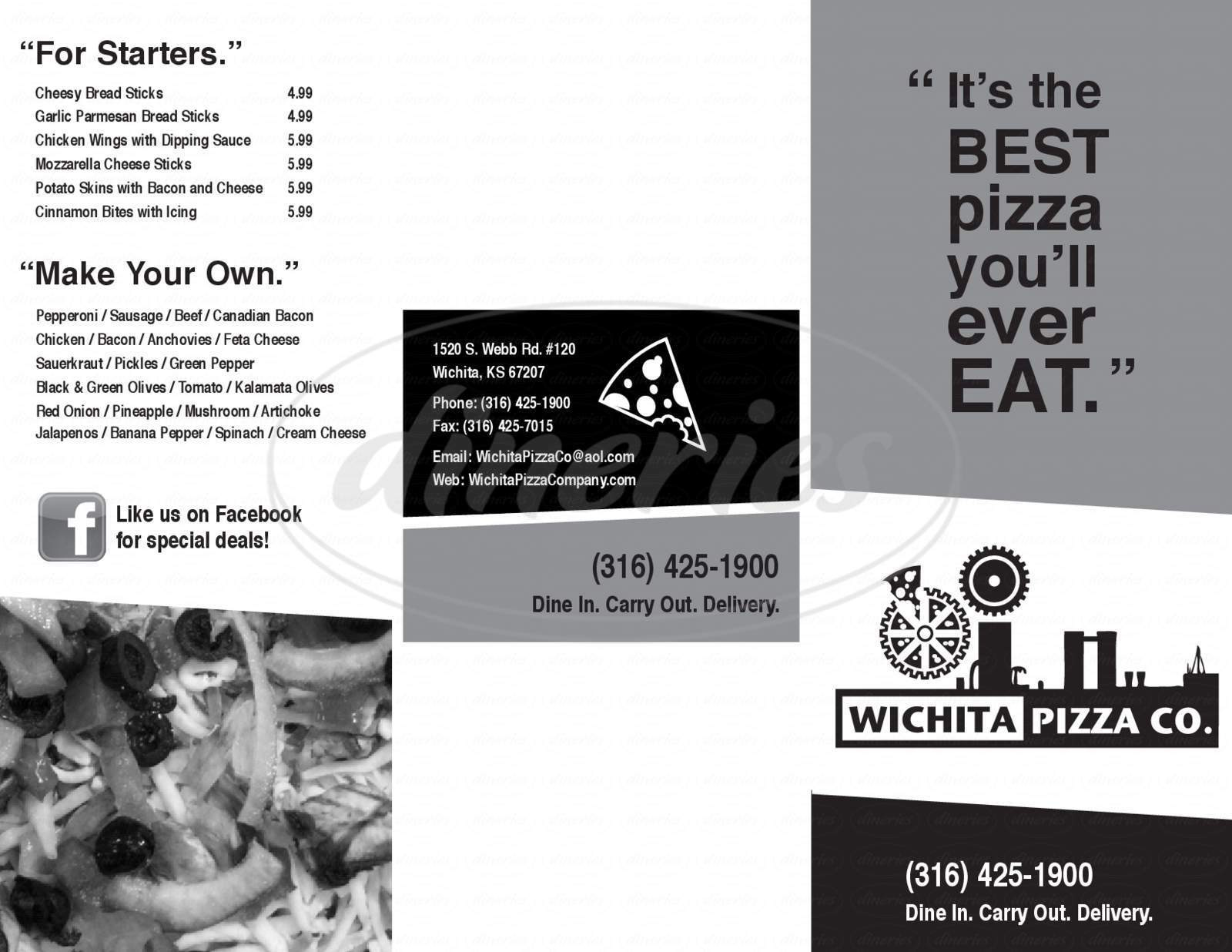 menu for Wichita Pizza Co