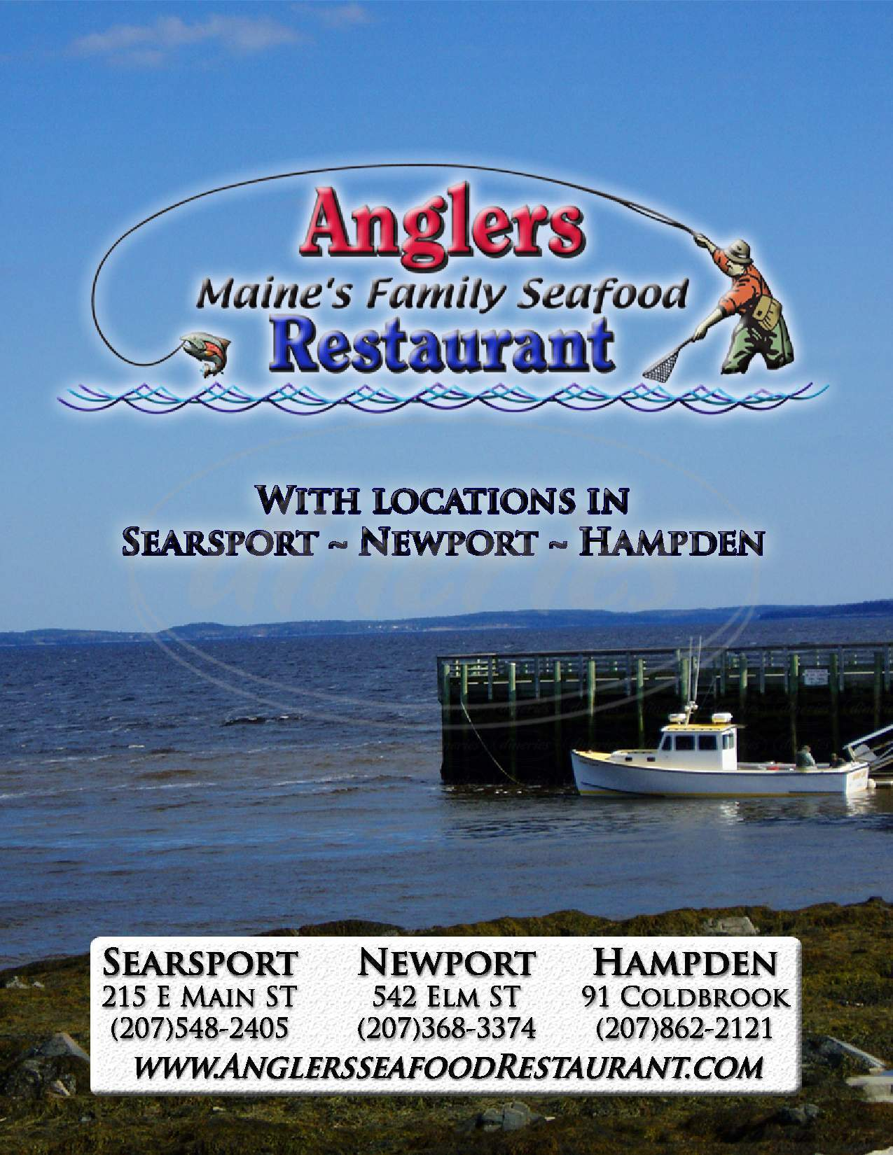 menu for Anglers Restaurant