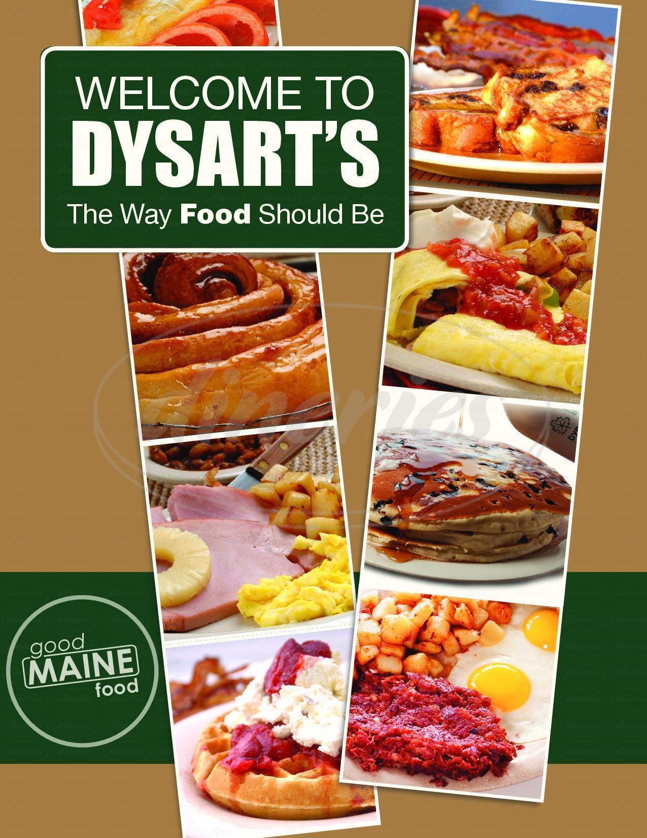 menu for Dysart's Broadway Deli