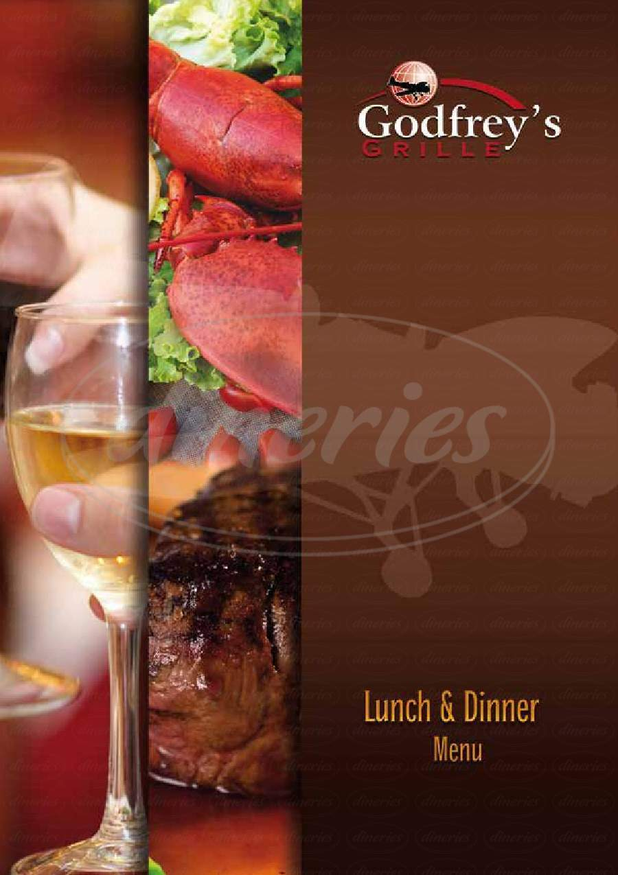 menu for Godfrey's Grille