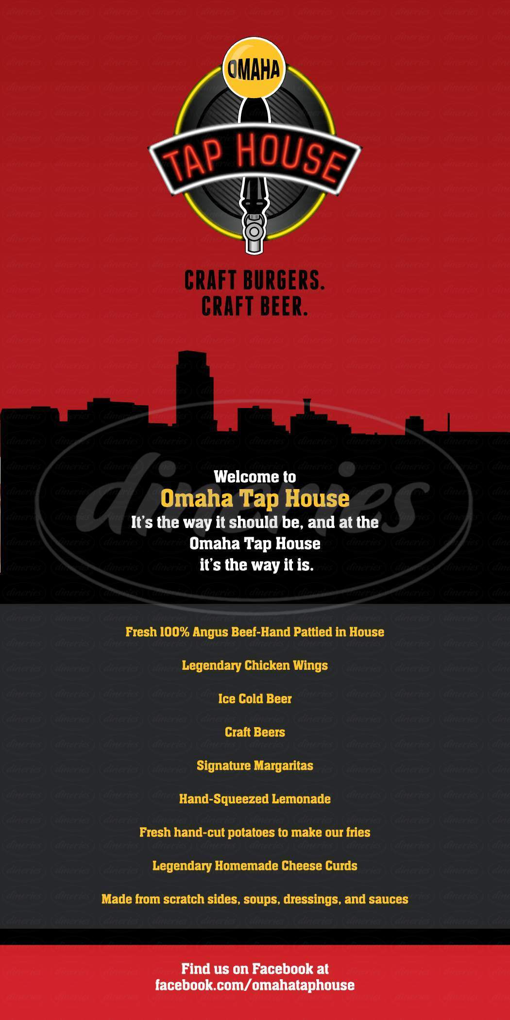 menu for Omaha Tap House