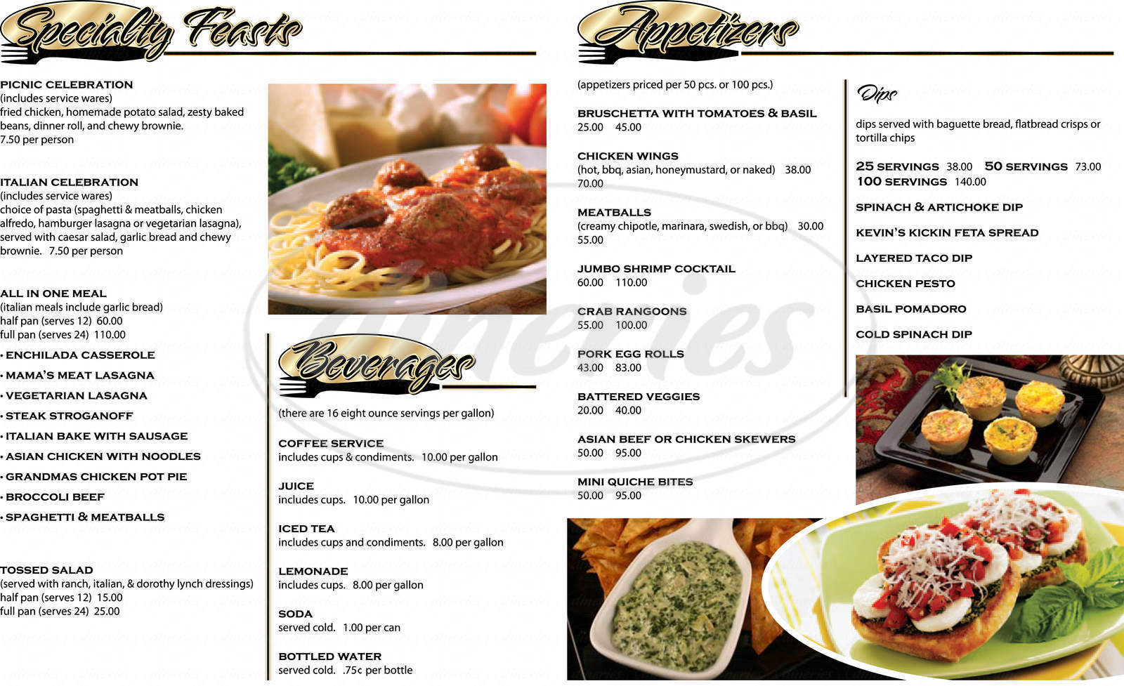 menu for Russ's Market Cafe