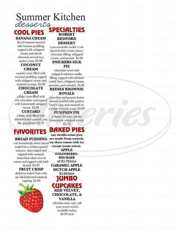 summer kitchen big menu la vista dineries - Summer Kitchen Menu